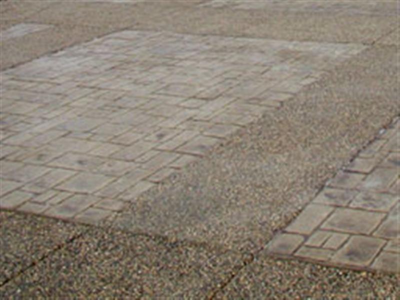 Plain Concrete Patio With Fire Pit