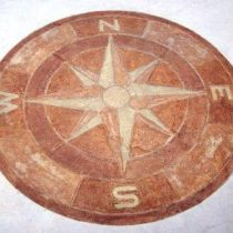 Hand-Stained Compass Stamp