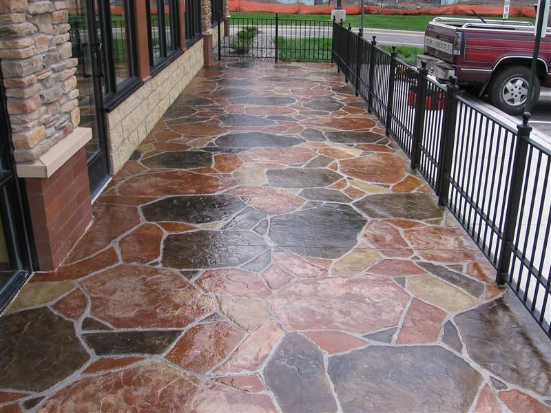 Nice Arizona Flagstone, Acid Stain
